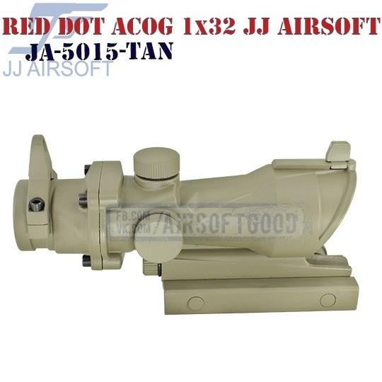 Red Dot Style ACOG 1x32 TAN JJ Airsoft (JA-5015-TAN)