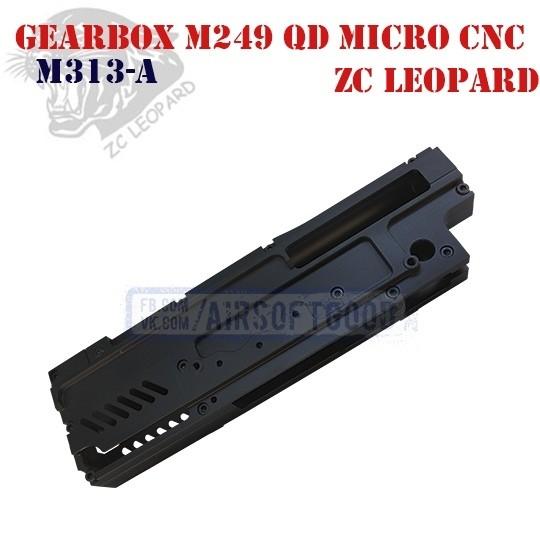 Gearbox M249 QD CNC Aluminum 7075 ZC Leopard (M313-A)