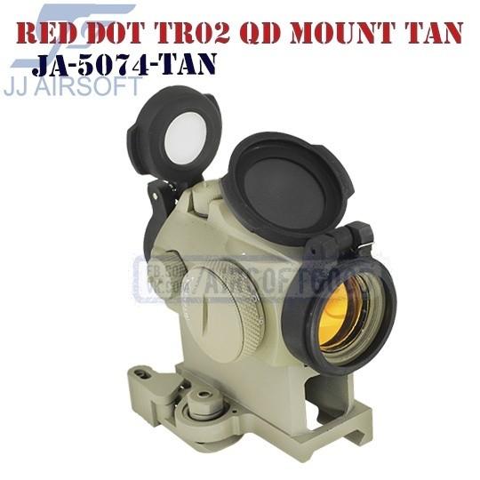 Red Dot TR02 QD Mount TAN JJ Airsoft (JA-5074-TAN)