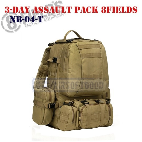 3-Day Assault BackPack TAN 8FIELDS (NB-04-T)