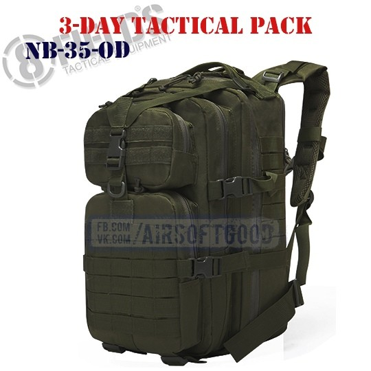 3-Day Tactical BackPack OD 8FIELDS (NB-35-OD)