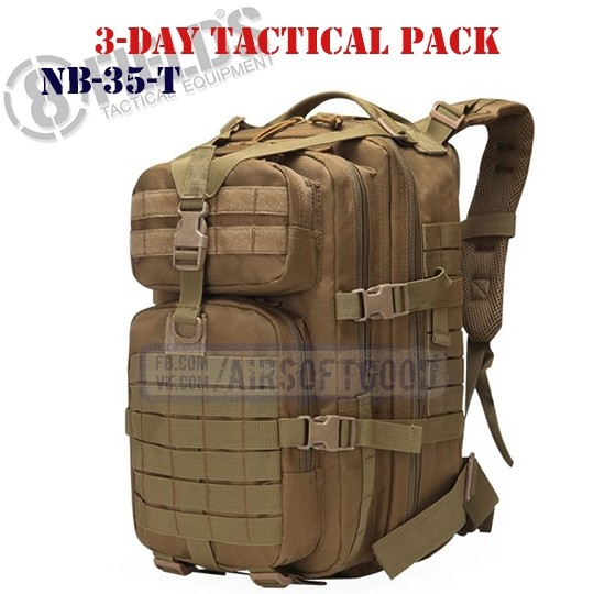 3-Day Tactical BackPack TAN 8FIELDS (NB-35-T)