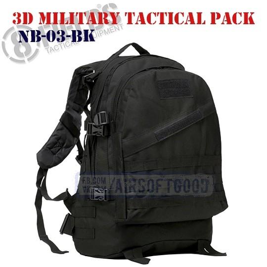 3D Military Tactical BackPack Black 8FIELDS (NB-03-BK)