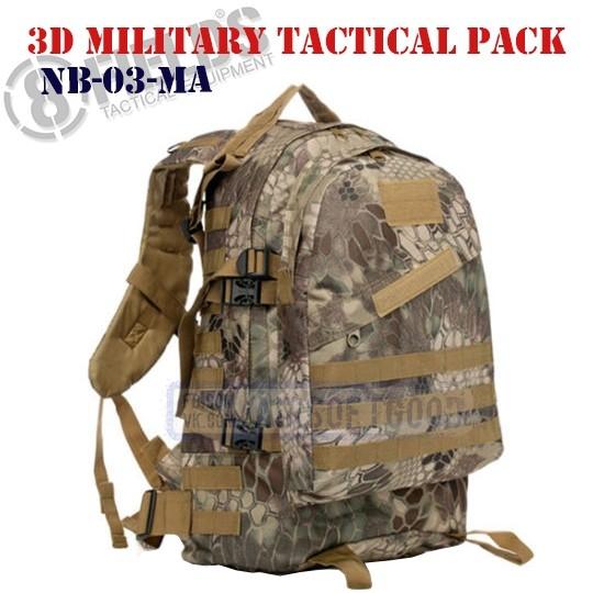 Hiking Tactical BackPack Black 8FIELDS (NB-09-BK)