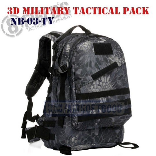 3D Military Tactical BackPack Kryptek Typhon 8FIELDS (NB-03-TY)