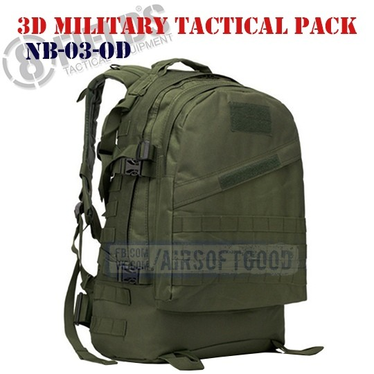 3D Military Tactical BackPack OD 8FIELDS (NB-03-OD)