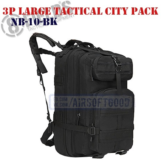 3P Large Tactical City BackPack Black 8FIELDS (NB-10-BK)