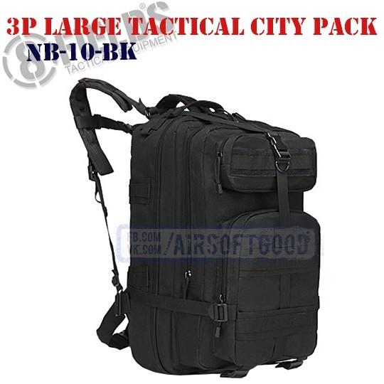 3P Large Tactical City BackPack Black 8FIELDS (NB-10-BK)