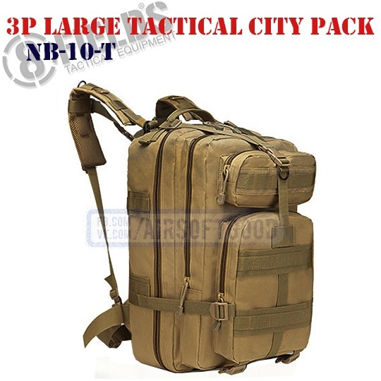 3P Large Tactical City BackPack TAN 8FIELDS (NB-10-T)