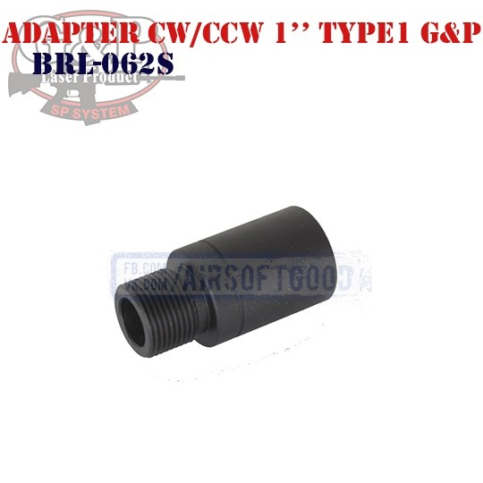 "Adapter Outer Barrel CW/CCW 1"" Type1 G&P (BRL-062S)"