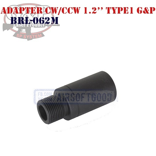 "Adapter Outer Barrel CW/CCW 1.2"" Type1 G&P (BRL-062M)"
