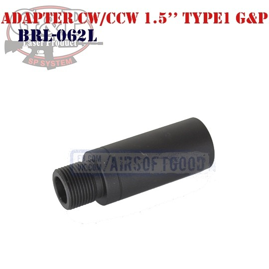 "Adapter Outer Barrel CW/CCW 1.5"" Type1 G&P (BRL-062L)"