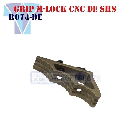 Angled Grip M-Lock Aluminum CNC DE SHS (R074-DE)