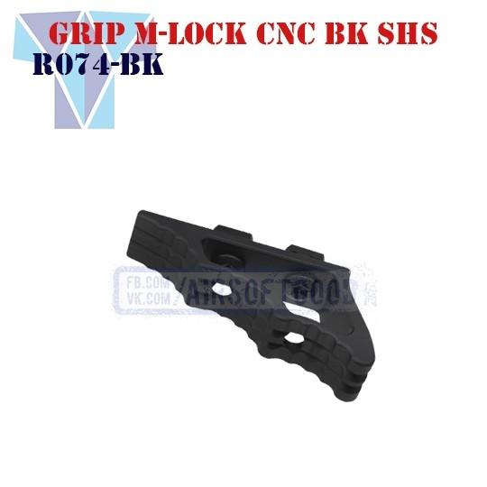 Angled Grip M-Lock Aluminum CNC SHS (R074-BK)