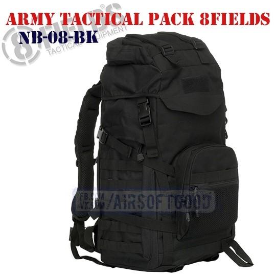 Army Tactical BackPack Black 8FIELDS (NB-08-BK)