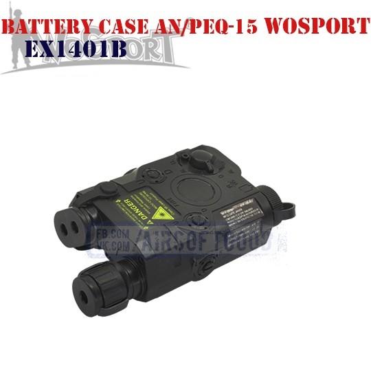 Battery Case AN/PEQ-15 Black WoSporT (EX1401B)