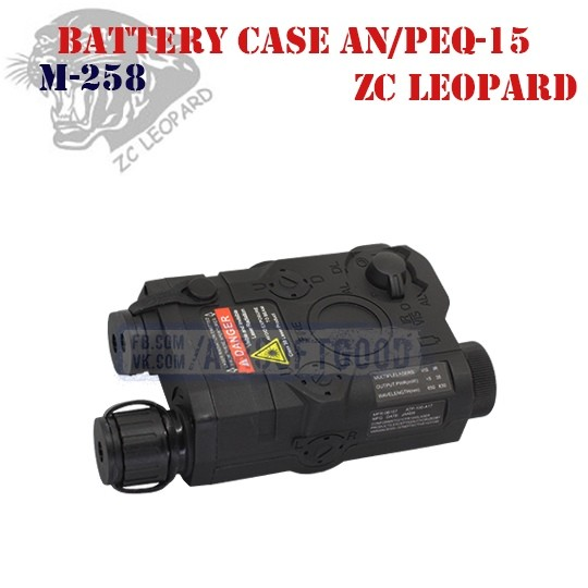 Battery Case AN/PEQ-15 Black ZC Leopard (M-258)