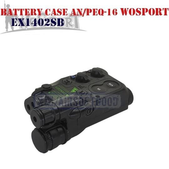 Battery Case AN/PEQ-16 Black WoSporT (EX1402SB)