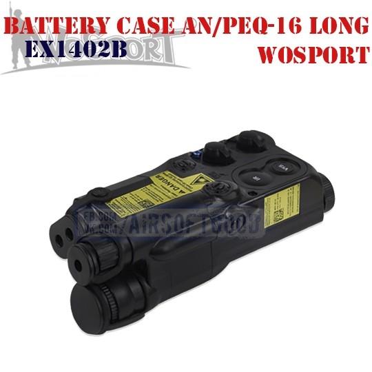 Battery Case AN/PEQ-16 Long Black WoSporT (EX1402B)