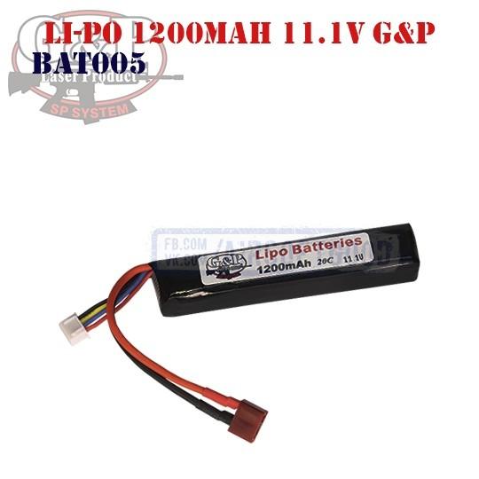 Battery Li-Po 1200mAh 11.1V G&P (BAT0005)
