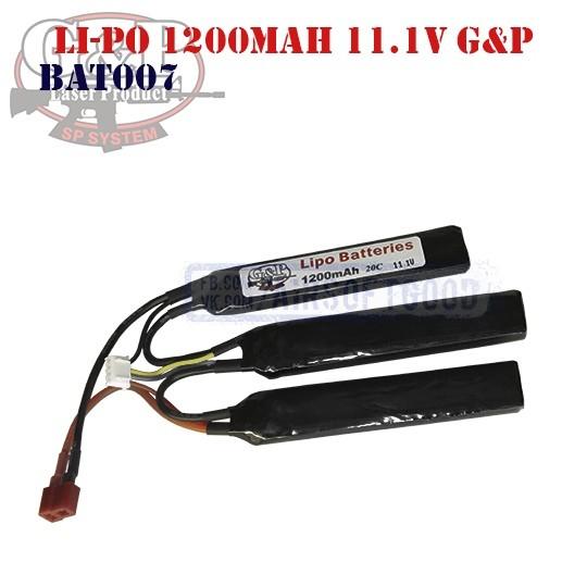 Battery Li-Po 1200mAh 11.1V G&P (BAT0007)
