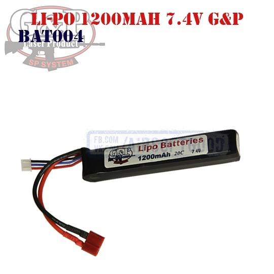 Battery Li-Po 1200mAh 7.4V G&P (BAT0004)