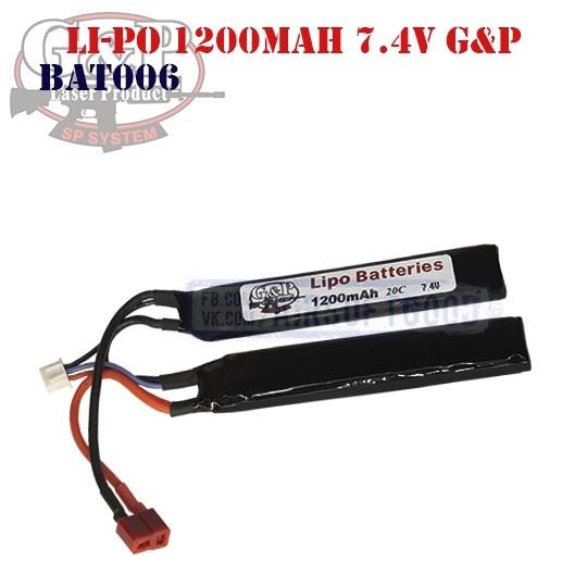 Battery Li-Po 1200mAh 7.4V G&P (BAT0006)