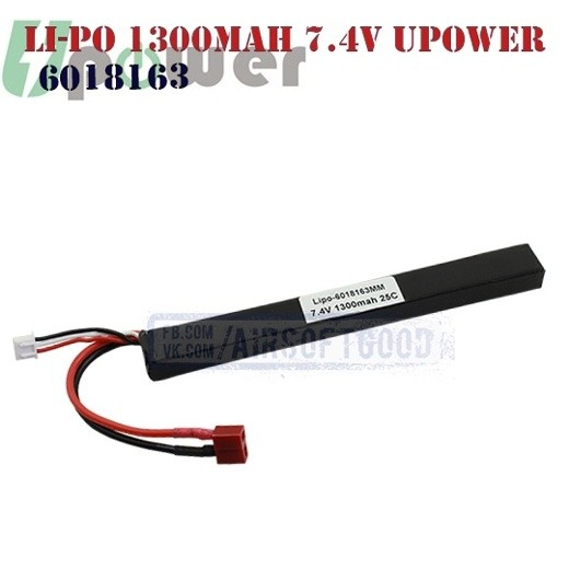 Battery Li-Po 1300mAh 7.4V UPOWER (6018163)