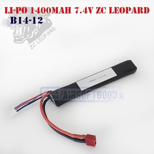 Battery Li-Po 1400mAh 7.4V ZC Leopard (B14-12)