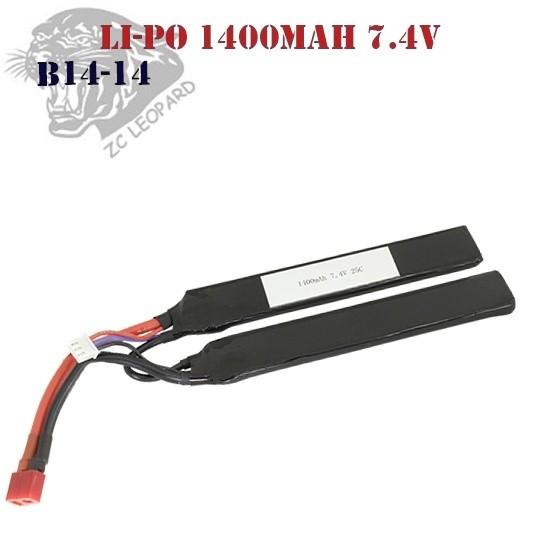 Battery Li-Po 1400mAh 7.4V ZC Leopard (B14-14)