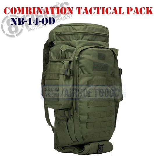 Combination Tactical BackPack OD 8FIELDS (NB-14-OD)