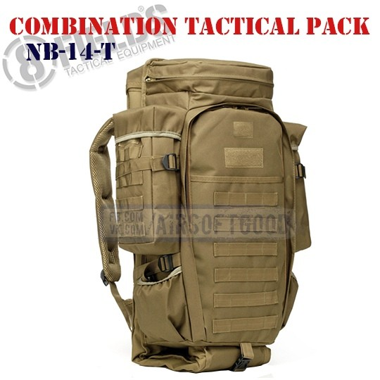 Combination Tactical BackPack TAN 8FIELDS (NB-14-T)