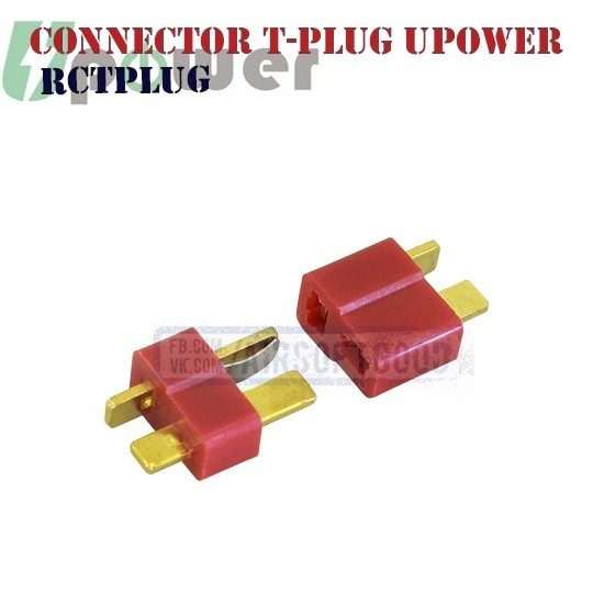 Connector T-plug Male & Female UPOWER (RCTPLUG) Т коннектор