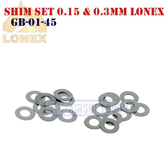 Shim Set 0.15 & 0.3mm LONEX (GB-01-45)