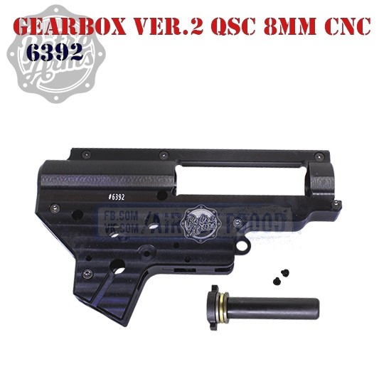 Gearbox Shell Version 2 QSC 8mm Aluminum CNC Retro Arms 6392