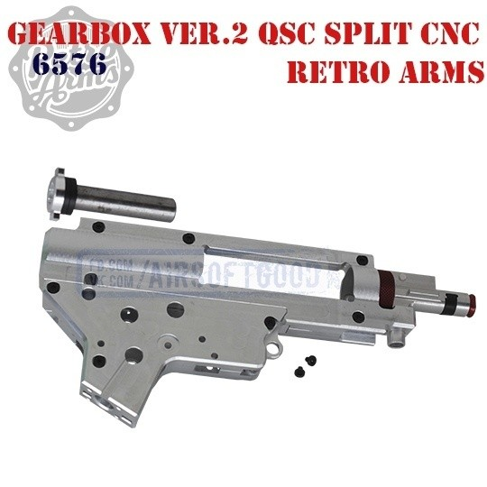 Gearbox Ver.2 QSC 8mm Split & Hop-UP Aluminum CNC Retro Arms (6576)