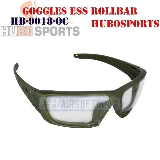 Goggles ESS ROLLBAR Lens Clear Olive HUBOSPORTS (HB-9018-OC)