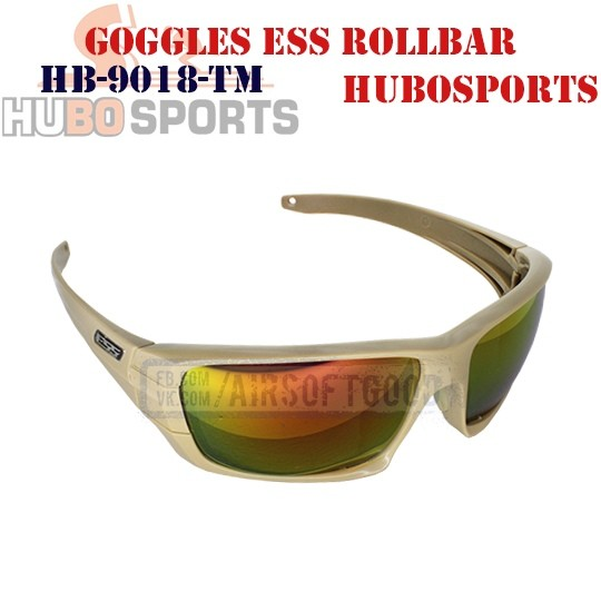 Goggles ESS ROLLBAR Lens Mirrored TAN HUBOSPORTS (HB-9018-TM)