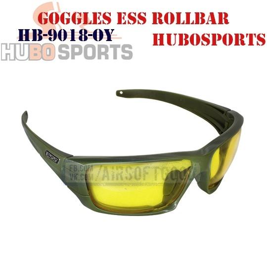 Goggles ESS ROLLBAR Lens Yellow Olive HUBOSPORTS (HB-9018-OY)