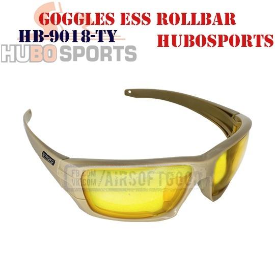 Goggles ESS ROLLBAR Lens Yellow TAN HUBOSPORTS (HB-9018-TY)