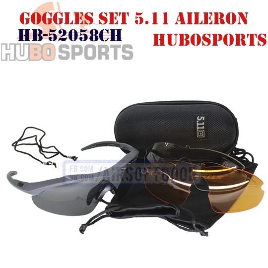 Goggles Set 5.11 AILERON SHIELD Charcoal HUBOSPORTS (HB-52058CH)