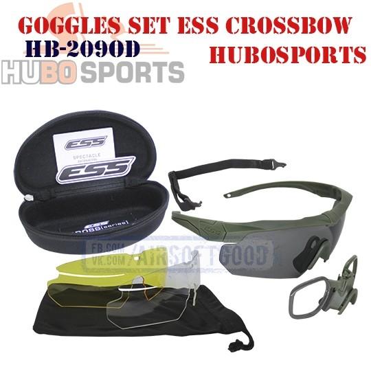 Goggles Set ESS Crossbow Olive HUBOSPORTS (HB-209OD)