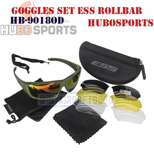 Goggles Set ESS ROLLBAR Olive HUBOSPORTS (HB-9018OD)