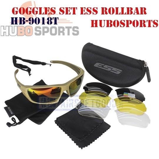 Goggles Set ESS ROLLBAR TAN HUBOSPORTS (HB-9018T)