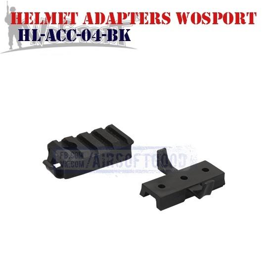 Helmet Adapters Picatinny & Wing-Loc Black WoSporT (HL-ACC-04-BK)