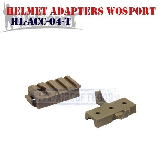 Helmet Adapters Picatinny & Wing-Loc DE WoSporT (HL-ACC-04-T)