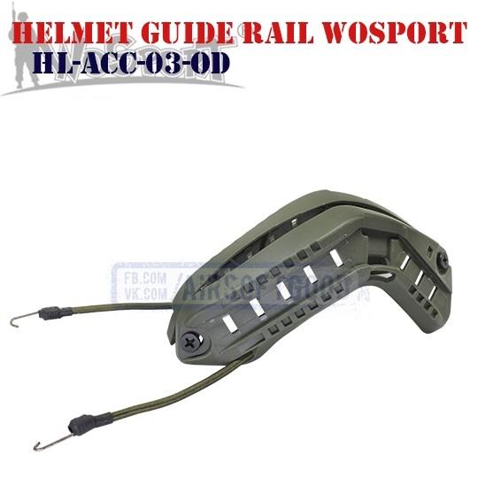 Helmet Guide Rail Olive WoSporT (HL-ACC-03-OD)