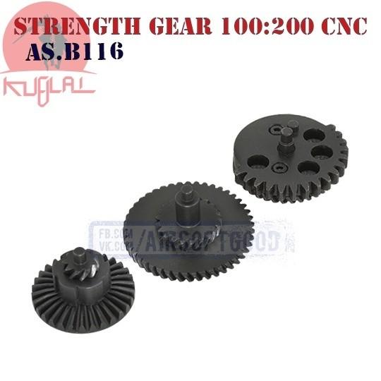 High Strength Gear Set Helical Super Torque 100:200 CNC KUBLAI (AS.B116)