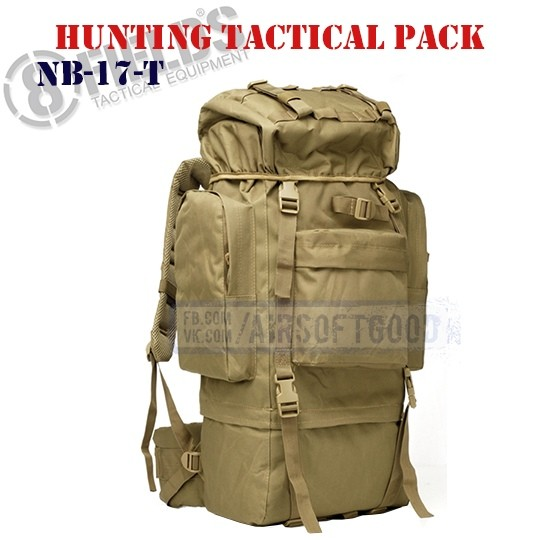 Hunting Tactical BackPack TAN 8FIELDS (NB-17-T)