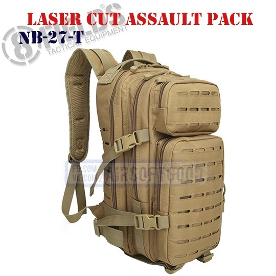 Laser Cut Assault BackPack TAN 8FIELDS (NB-27-T)